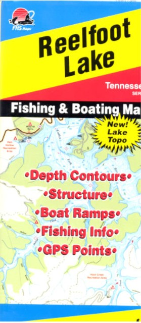 You can order the reelfoot lake topo map for plus tax for Reelfoot fishing report